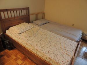 Twin bed and mattress for sale
