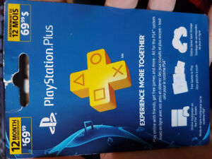 Selling 12 Month Ps+ Membership card 50$