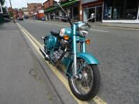 2010 59 reg ROYAL ENFIELD CLASSIC IN GREEN.