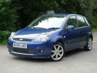 2008 Ford Fiesta 1.25 Zetec Blue 5dr +YES GENUINE 41,000 MILES!! +WARRANTY +CHEA
