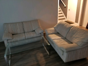 2 couches for 150$. Must pick up before Thursday (moving)