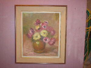 Vase with flowers.