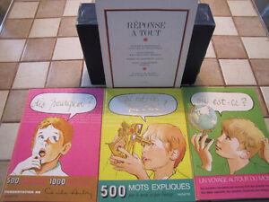 Coffret vintage de 3 livres «Réponse à tout». Très rare!!!