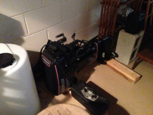 15 Hp Evinrude Two Stroke, 14 ft Aluminum Boat, Launch Trailer