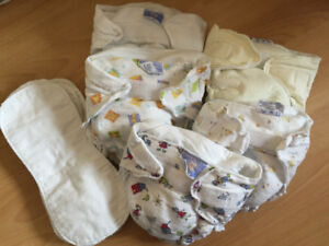 Cloth diapers with inserts and covers