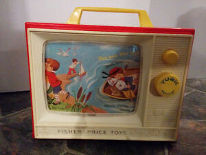 Vintage Fisher Price TV/ Vieux Fisher Price TV