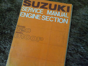 Suzuki B100P (120cc) Engine Service Manual