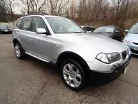 BMW X3 2.5i SPORT (FULL SERVICE HISTORY + FULL LEATHER + PARKING SENSORS) (silver) 2004