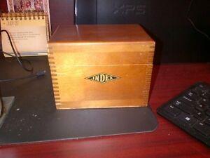 Antique Index Card Box