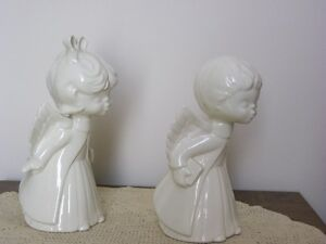 Ceramic Boy and Girl Angels & Dolphin Statue Kitchener / Waterloo Kitchener Area image 3
