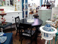 VINTAGE PAINTED DINING TABLE SIDEBOARDS DRESSERS CHANDELIERS