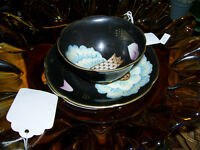 Rare Occupied Japan Black Cup and saucer