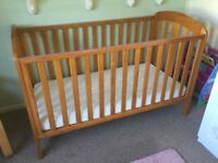 Mamas and Papas Cot / Toddler bed and mattress