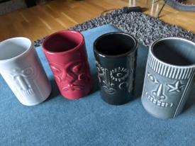 IKEA Tiki Mugs Frekvens Maria Vinka Stoneware Rare Hawaiian L