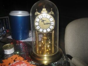 Fisher Brass/Gold Coloured Anniversary Dome Clock