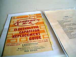 Electrolytic Capacitor Replacement Guide copy TV & Stereo