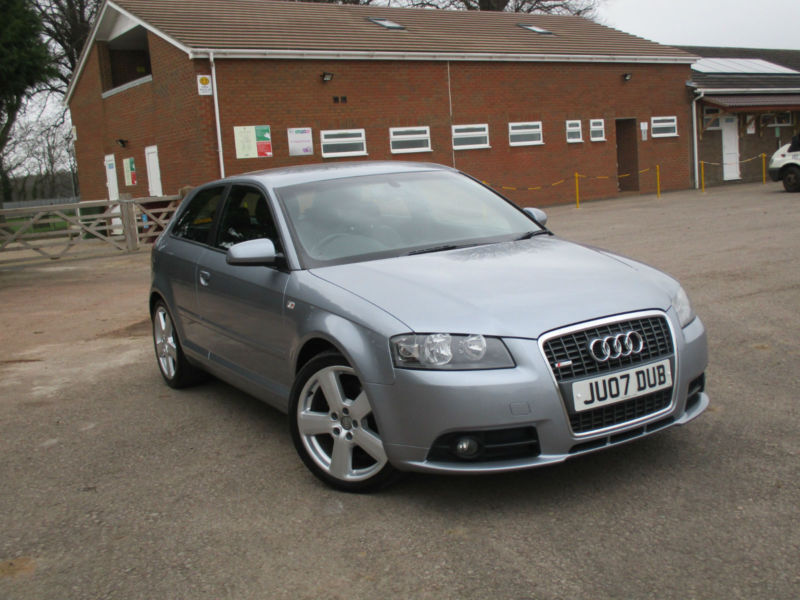 2007 07 audi a3 2 0tdi tronic s line 3 door automatic diesel in coleford gloucestershire. Black Bedroom Furniture Sets. Home Design Ideas
