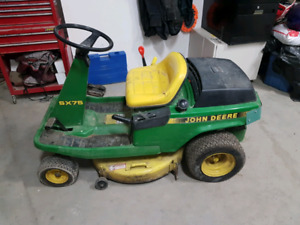 John deer ride on mower sx75