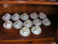 Franklin mint demitasse cups and sacuers