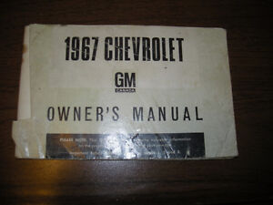 1967 Chevrolet Owners Manual...