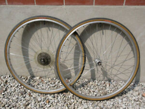 "27"" Alloy Wheelset with Tires and Tubes -- for Vintage Bikes"