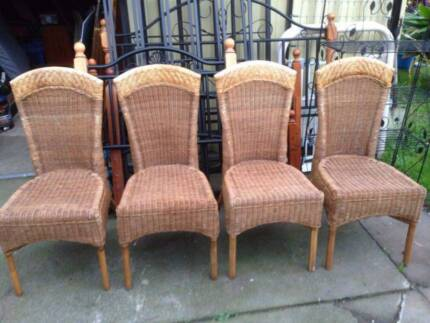4 High Back Cane Dining Chairs Beckenham Gosnells Area Preview