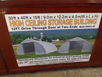 30'x40'x15' Heavy Duty Storage Shelter