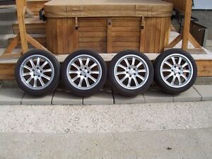 4- 17 inch Audi/volkswagen rims and tires