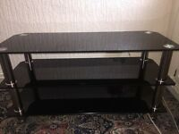 Black glass TV stand 40""