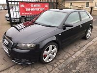 2007 (56) AUDI A3 2.0 TDI S-LINE, WARRANTY, NOT GOLF SRI SXI ST GTI TDI