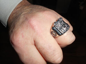 Bague Harley Davidson et stainless VTWIN Motorcycle Glide