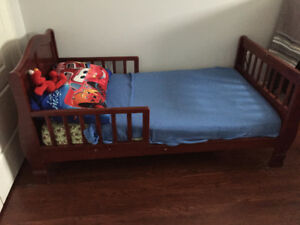 childs first little bed, solid wood,