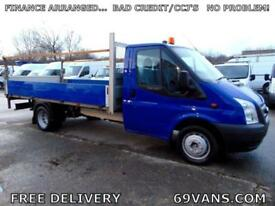 2012 62 FORD TRANSIT LWB 13FT EXTEND FRAME DROPSIDE, ALLOY TAIL LIFT,
