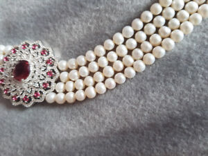 NATURAL Real pearl necklace