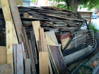 Scrap wood, metal, ABS pipe