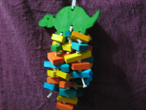 New Hand made WOODEN BIRD/PARROT TOYS