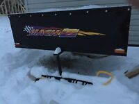 Enclosed sled trailer