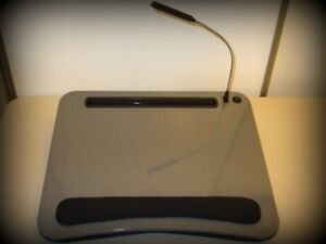Sofia + Sam Lap Desk with USB Light (Black)