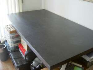 Black Kitchen Table & Natural Wood Kitchen Table & Folding Card