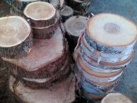 Wood slice 2$ each for 20 and +