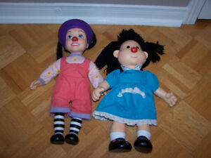 Big Comfy Couch Molly & Loonette Doll 1996 Vinyl Head Arms Legs