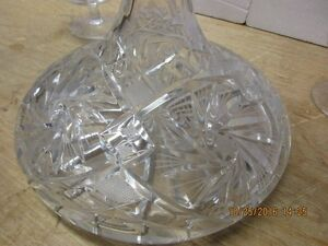 Crystal brandy carafe and 4 matching snifters London Ontario image 3