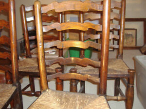 Vintage Ladder Back Chairs (reduced price)
