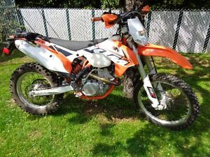 Like new 350 EXC-F on off road motorcycle