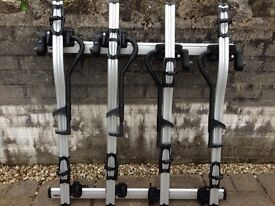 Thule roof bars and 4x bike carriers