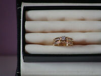 14 kt Engagement and Wedding band set