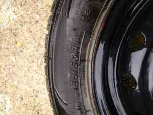 185/60R14 Imperial SnowDragon 2 winter tires, 100 x 4 rims Kitchener / Waterloo Kitchener Area image 3