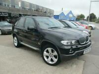 2005 (05) BMW X5 3.0D SPORT Black Auto Diesel 4x4 Climate Cruise Glass Roof SH