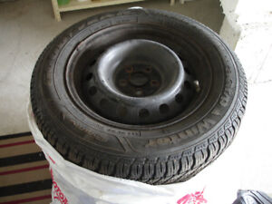 Winter Tires with Rims - used