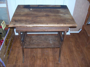 Antique Table 28 by 20 and 30 Inches Tall